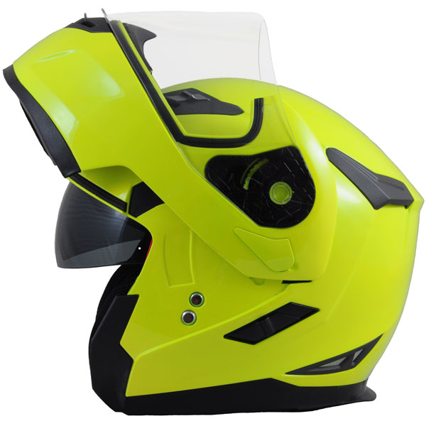 MT flux fluorescent yellow helmet