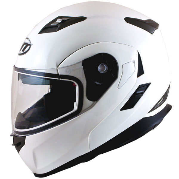 MT Flux helmet gloss white
