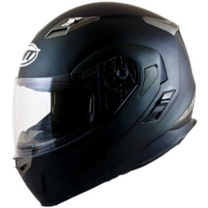 MT Flux flip up helmet matt black
