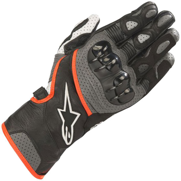 Alpinestars SP2 V2 black grey red gloves