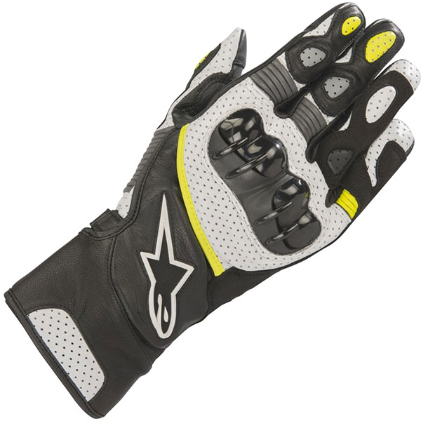 Alpinestars SP2 V2 white yellow gloves
