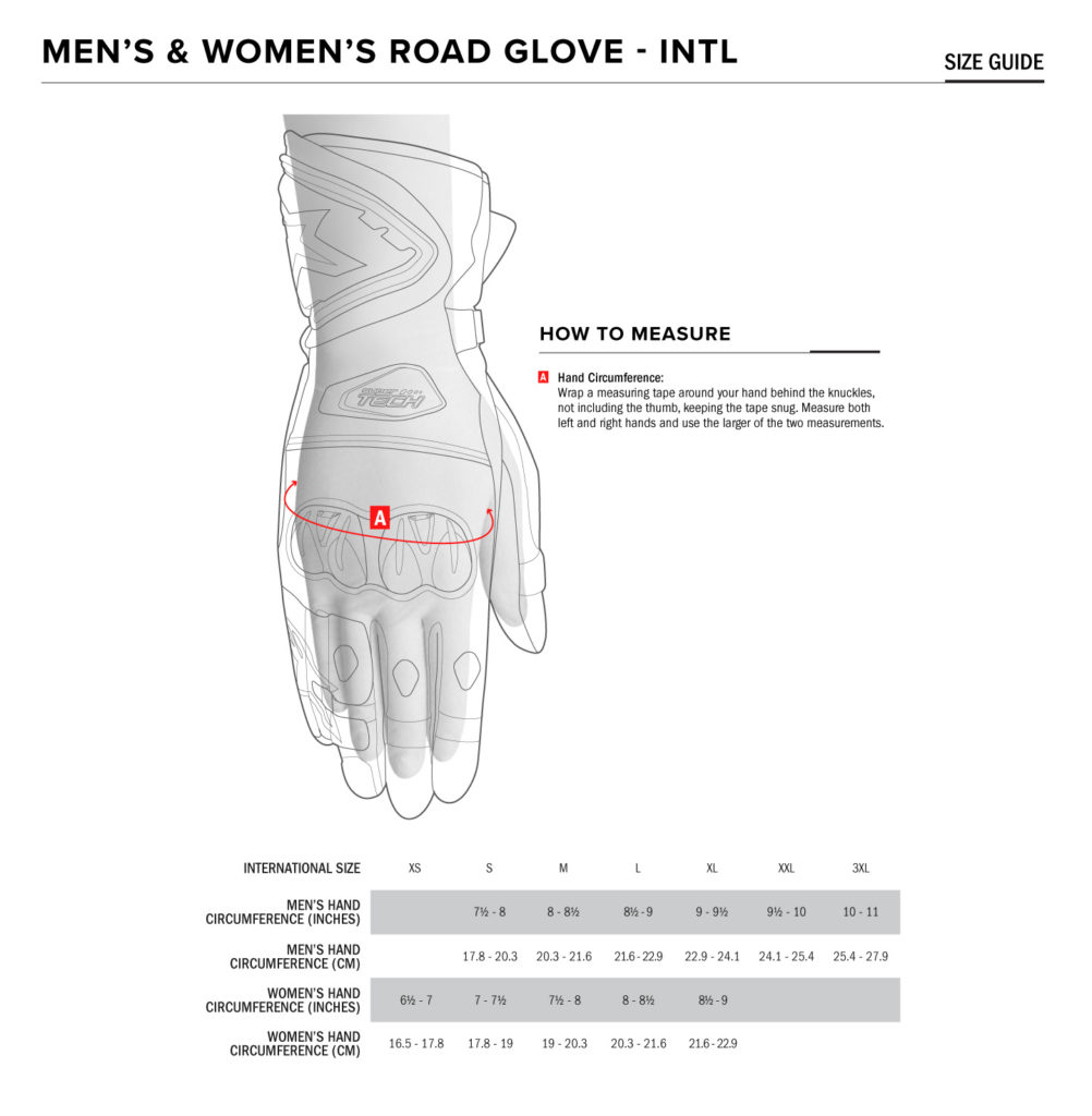 Alpinestars Gloves Size Guide