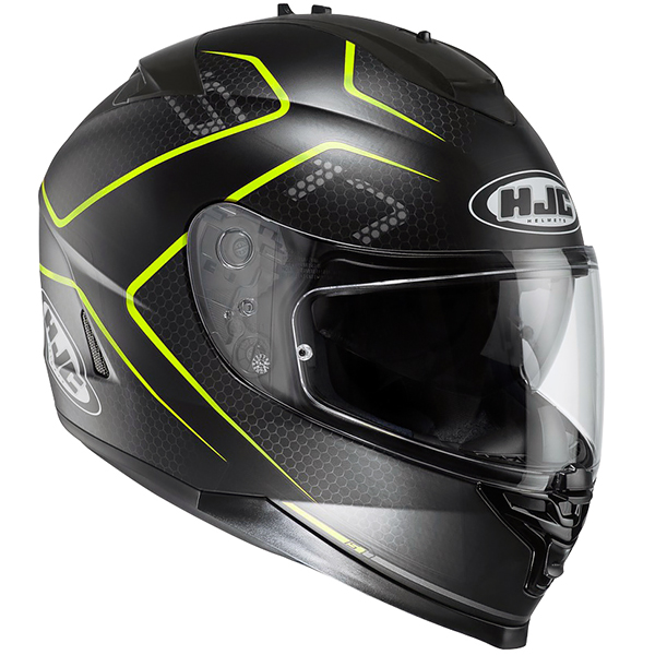 HJC IS-17 Lank Yellow Helmet