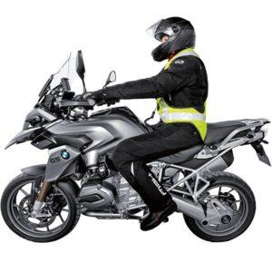 Helite air vest on bike